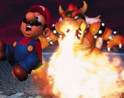 Bowser burning Mario
