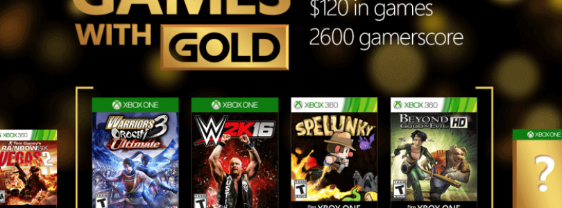 Games with Gold for August 2016 on Xbox One and Xbox 360