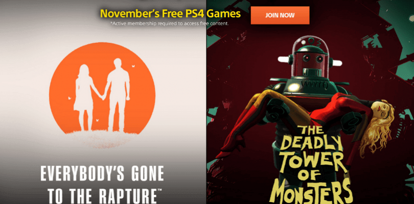 PlayStation Plus Free Game Lineup for November 2016