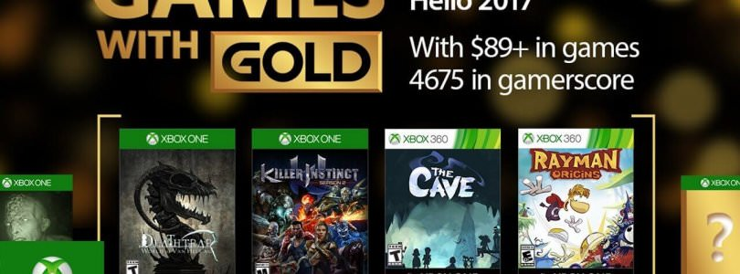 Games with Gold for January 2017 on Xbox One and Xbox 360