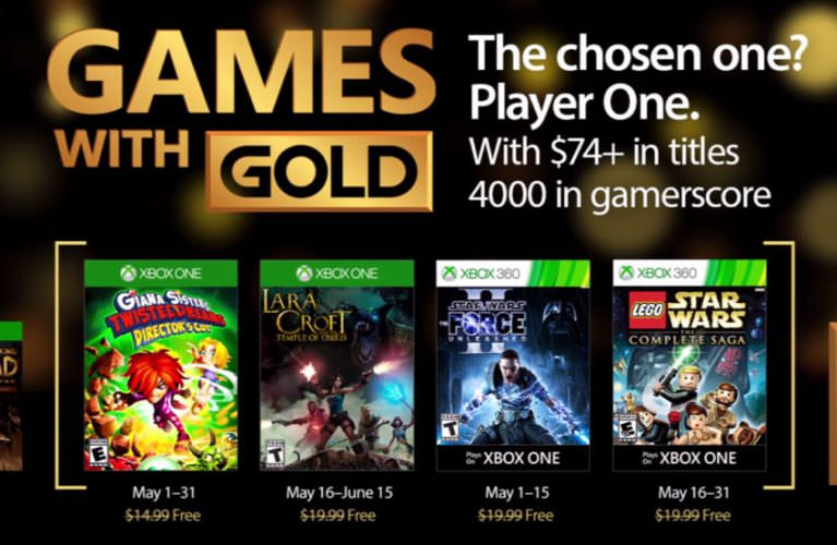 Games with Gold for May 2017 on Xbox One and Xbox 360