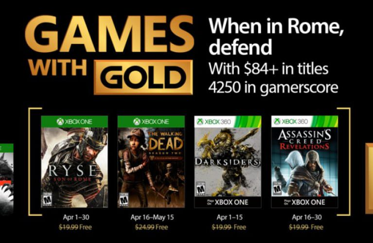 Games with Gold for April 2017 on Xbox One and Xbox 360