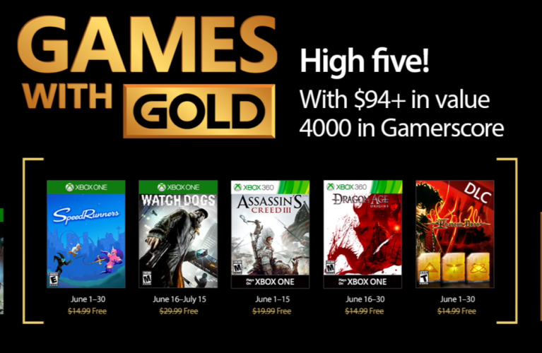Games with Gold for June 2017 on Xbox One and Xbox 360
